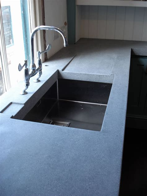 Kitchen Sink Worktop Polished Concrete Worktop With Drain Away Kitchen