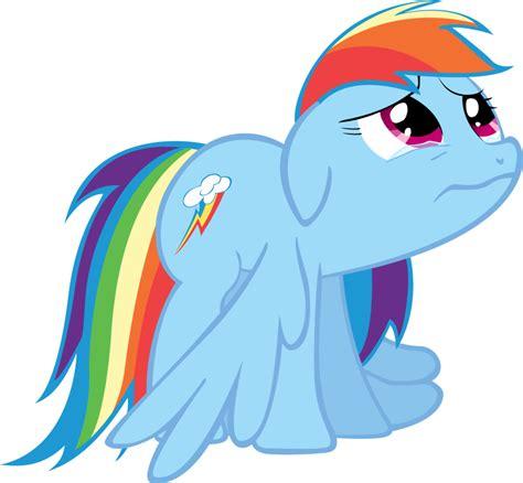 imagenes de sad my little pony rainbow dash is sad by tattooclown on deviantart