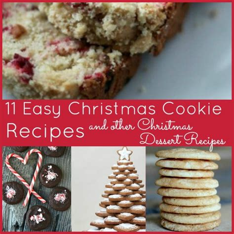 11 easy christmas cookie recipes and other christmas dessert recipes allfreeholidaycrafts com