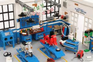 Garage Workbench Design check out these incredibly detailed lego auto garage and