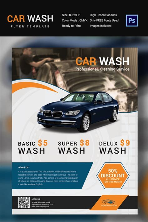 Free Car Wash Business Card Template Psd by Car Wash Flyer 48 Free Psd Eps Indesign Format