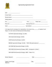 Sponsor Agreement Template Sponsorship Agreement Form Template