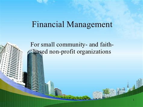 Mba Non Profit Canada by Financial Management Ppt Mba