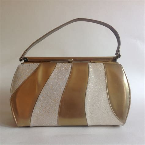 Handmade Leather Handbags Melbourne - melbourne bags gold faux leather 1960s vintage han retruly
