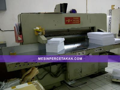 Mesin Potong Kertas Kecil mesin potong kertas qz 104 bekas murah mesin cetak