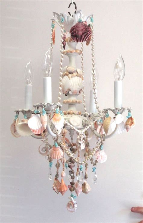 Decorations Coastal Living Chandeliers Seashell Decorations For Chandeliers