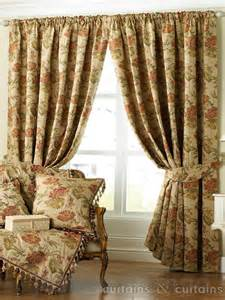 Cream Heavy Jacquard Pencil Pleat Lined Curtain   Curtains UK