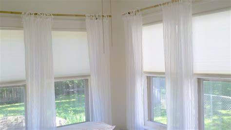 Curtain Rods For Corner Windows Brackets Home Design Ideas