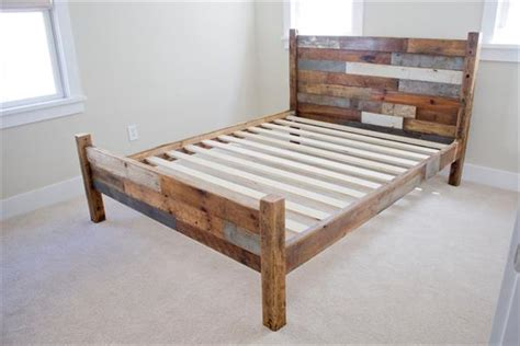 Handmade Bed Frame Plans - 10 diy pallet bed frames diy and crafts