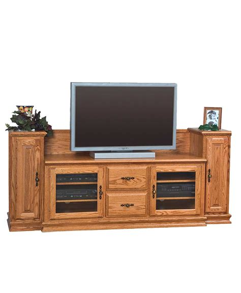 wide tv stand heritage wide tv stand with towers amish direct furniture
