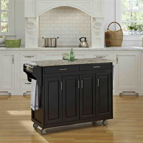 Home Styles Kitchen Cart by Home Styles Create A Cart Black Kitchen Cart With Concrete