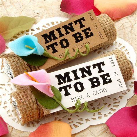 wedding favors mint to be personalized quot mint to be quot wedding favor gift tags