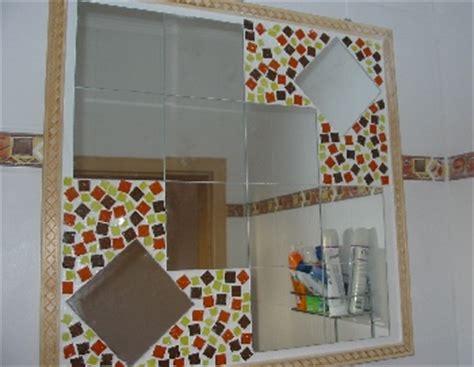 spiegel zum basteln kreativen mosaik spiegel selber basteln spiegel aufh 228 ngen