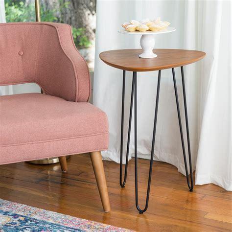 walker edison furniture company 18 in walnut hairpin leg