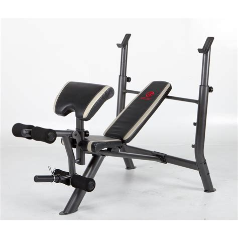 marcy bench press marcy 174 1 piece mid width bench press 213308 at