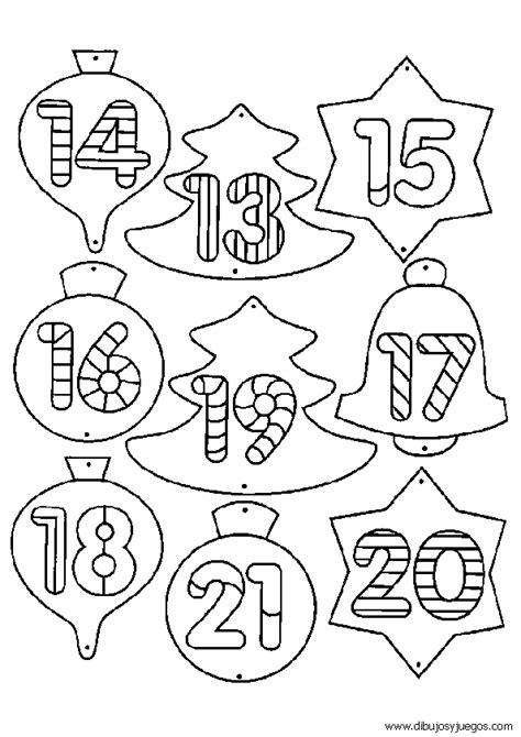dibujos numeros navidad  dibujos  juegos  pintar  colorear