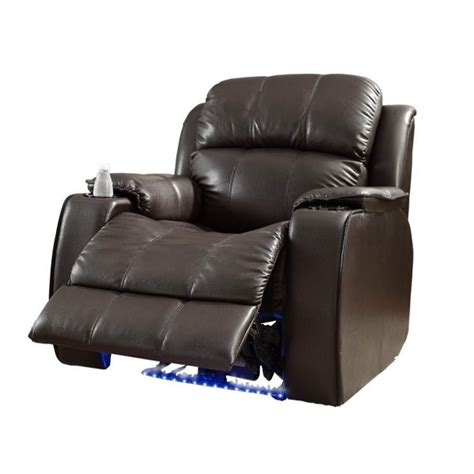 Leather Power Recliner Chairs by Trent Home Jimmy Leather Power Recliner Chair In Brown 9745brw 1