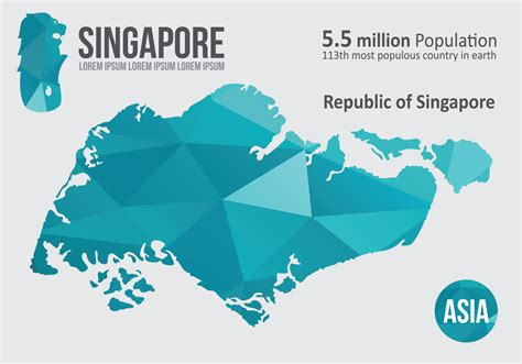 singapore vector map singapore map infographic free vector