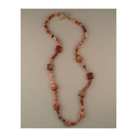 rosetta stone necklace hand knotted rosetta jasper necklace
