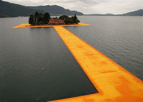 floating piers walking on water artist christo s floating piers connect