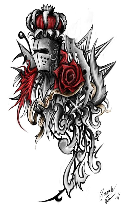 medieval knight tattoo designs ornament by patrike on deviantart