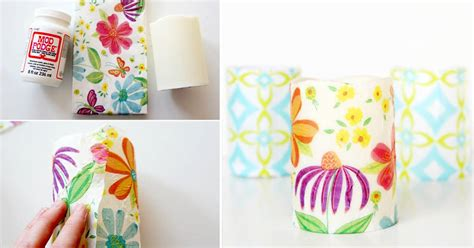 decoupage candele floral decoupage candles with napkins mod podge rocks
