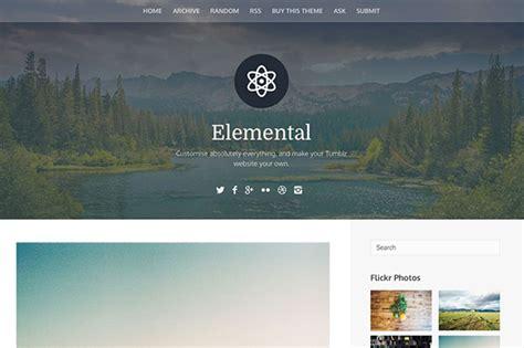 tumblr layout with header elemental tumblr theme themelantic