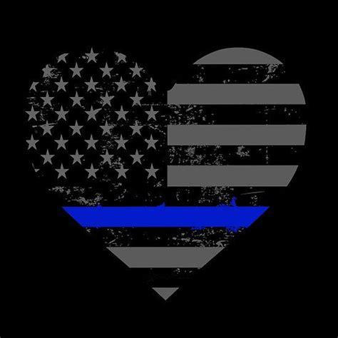 enforcement blue line and enforcement thin blue line valentines