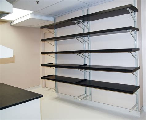 Wall To Wall Shelving Garage Wall Shelving Ideas Designs