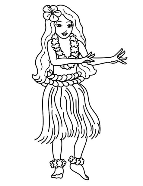 pin hawaiian girl colouring pages on pinterest