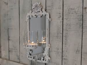 vintage mirrored candle sconce shabby vintgae style home