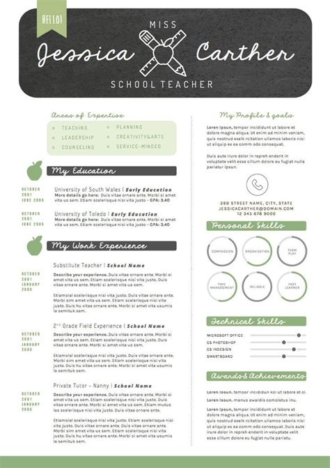 teachers resume template best 25 resumes ideas on teaching
