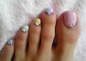 toe nail art designs with rhinestones www imgarcade com