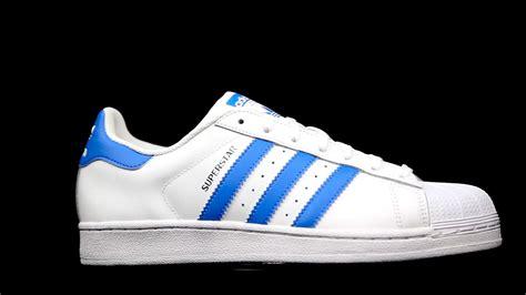 Sepatu Adidas Superstar White Blue 36 40 adidas blue superstar