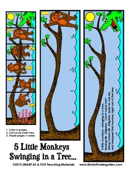 five little monkeys swinging in a tree quot five little monkeys swinging volvoab
