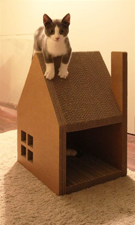 cardboard cat house 154 best cool cat condos images on pinterest cat condo dog cat and doggies