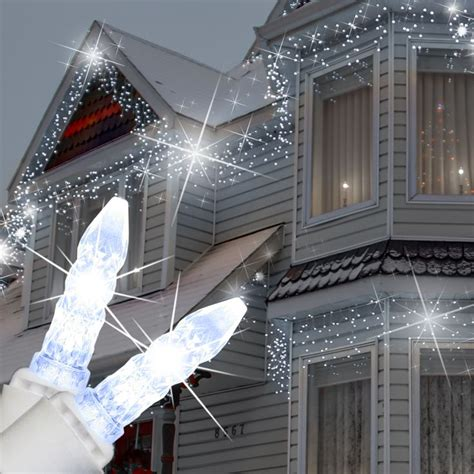 cool white icicle lights 70 m5 cool white twinkle led icicle lights