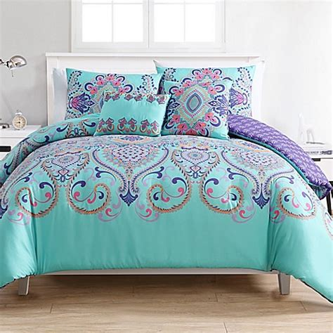 buy vcny home amherst 4 piece reversible twin xl comforter