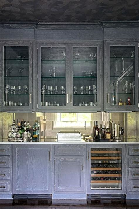 living room bar cabinet gray wire brushed oak bar cabinets with mirrored tile