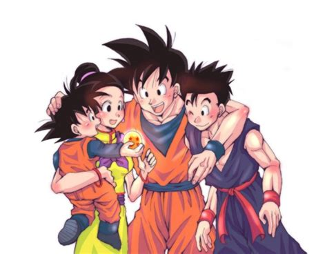 imagenes de la familia de goku chichi goku gohan and goten dbz pinterest la