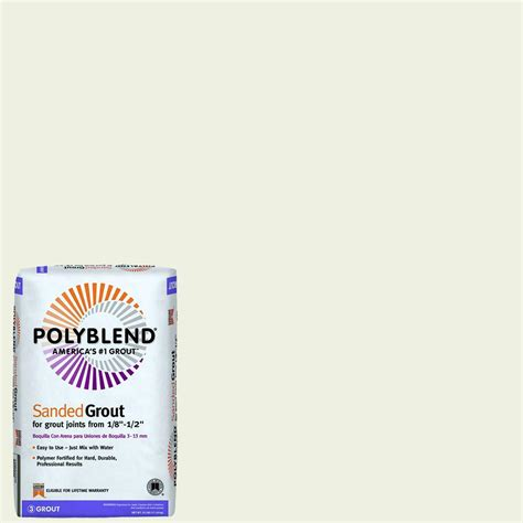 grout colors home depot custom building products polyblend 381 bright white 25 lb
