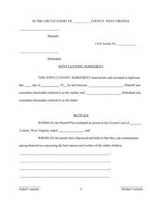 Joint Use Agreement Template best photos of joint custody agreement template joint