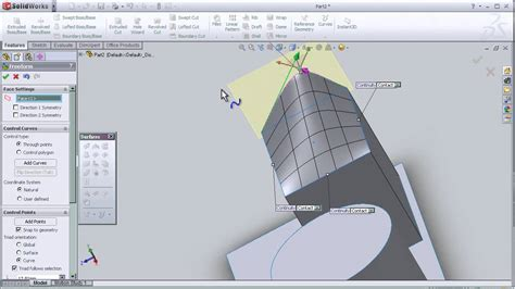 tutorial online solidworks 11 solidworks surface tutorial free form tool youtube