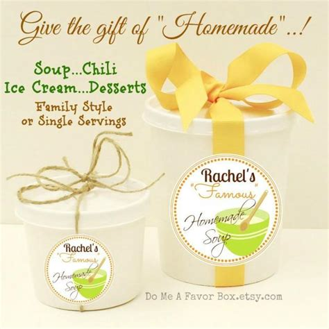 Baby Shower Hostess Gifts Etsy by Food Favors Soup Or Chili Containers With Personalized