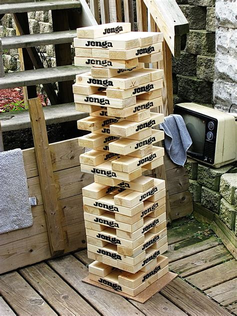 how to make backyard jenga giant quot wooden block stacking game quot tower