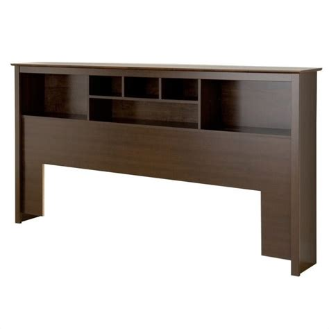 manhattan king bookcase headboard wood espresso bookcasein