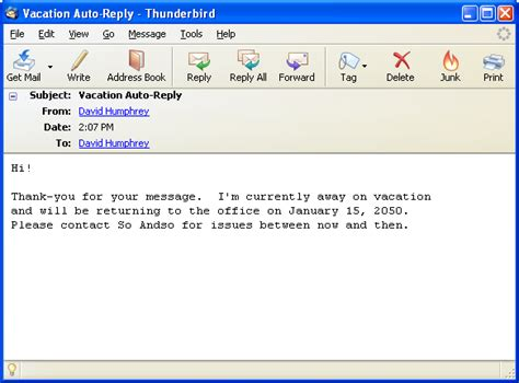 away message template the mythical mail client and a plan for email