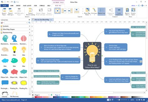 windows mapping mind map desktop program create great looking mind map