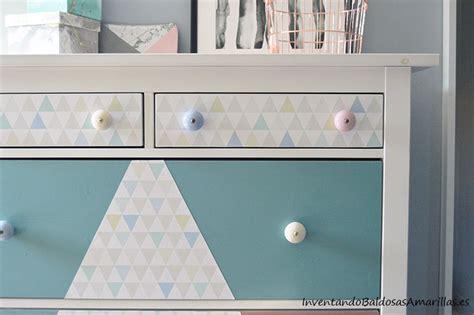 decorar un mueble con papel pintado decorar una comoda con papel pintado geom 233 trico
