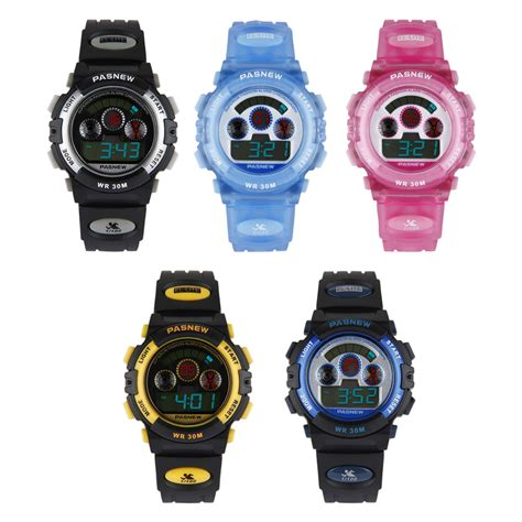 pasnew childrens boys waterproof watches sports